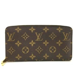 100% Auth Louis Vuitton Monogram Zippy Zip Around